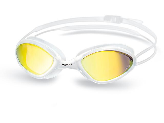 Head Tiger Race Mirrored LiquidSkin Svømmebriller hvid